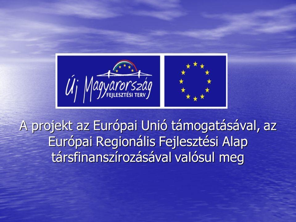 A projekt az Európai Unió támogatásával, az Európai Regionális Fejlesztési Alap társfinanszírozásával valósul meg