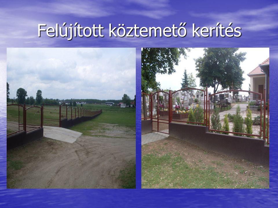 Felújított köztemető kerítés