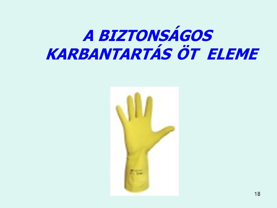 18 A BIZTONSÁGOS KARBANTARTÁS ÖT ELEME