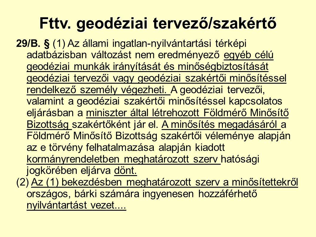 Fttv. geodéziai tervező/szakértő 29/B.