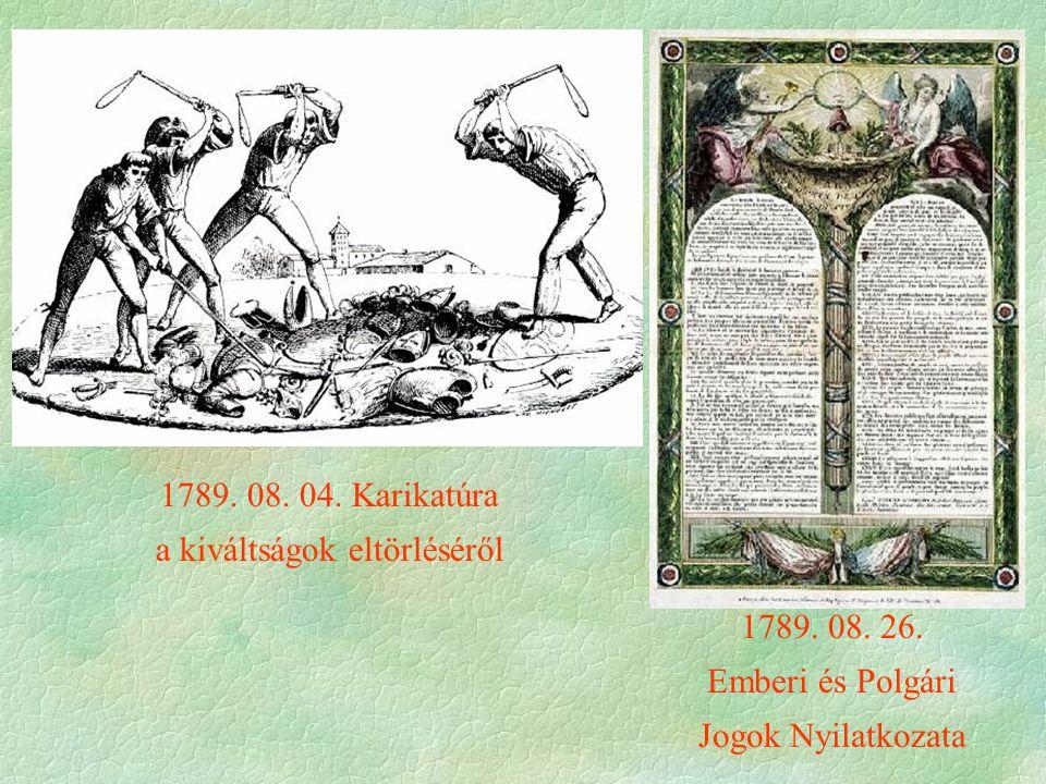 1789. 08. 26. Emberi és Polgári Jogok Nyilatkozata 1789.