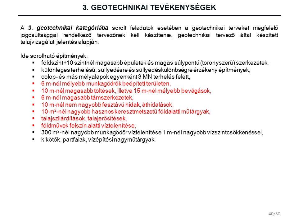 3. GEOTECHNIKAI TEVÉKENYSÉGEK A 3.