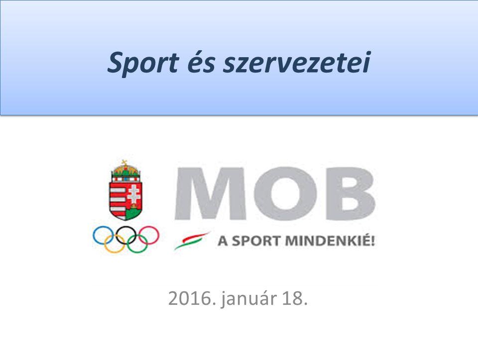 Sport és szervezetei 2016. január 18.