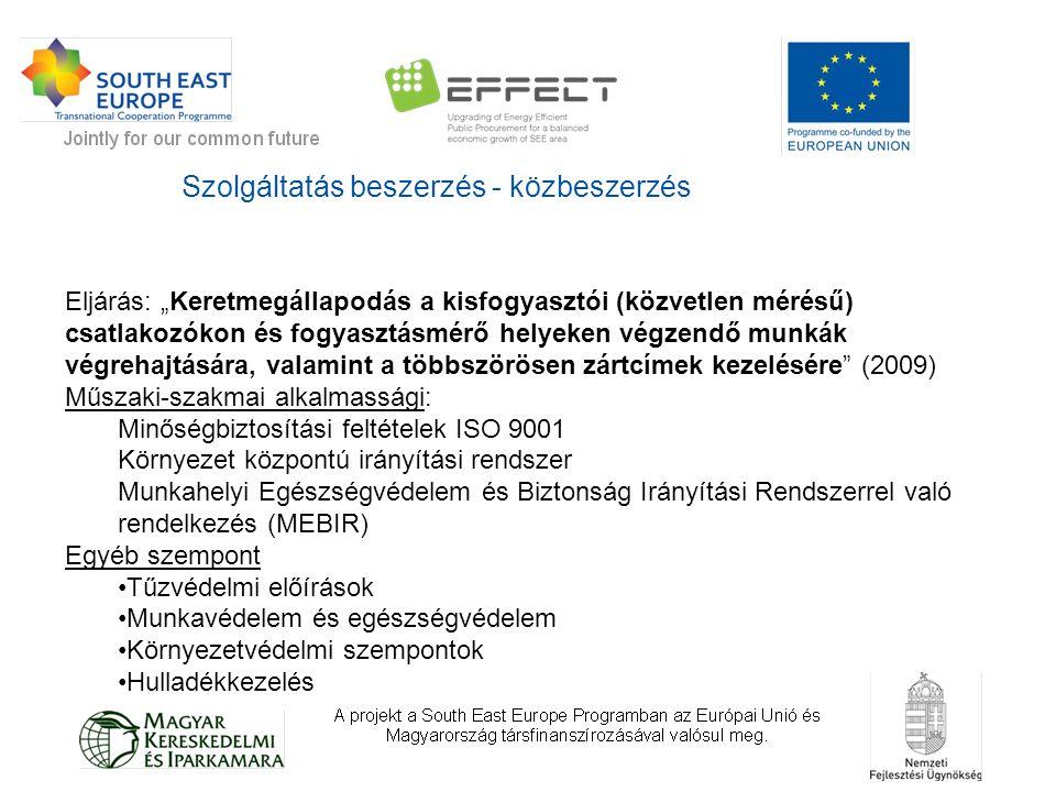 """Árubeszerzés - közbeszerzés Eljárás: """"Alállomási NAF/KÖF nagytranszformátorok beszerzése (keretmegállapodás,2010) Alkalmazott szempont: A korábbihoz képest kisebb zajszintű és veszteségű transzformátorok ISO 14001 tanúsítvány meglétének megkövetelése ONAN hűtés előírása (nincsenek ventilátorok és szivattyúk)  kisebb segédenergia szükséglet azbesztmentes és nem poliamid tömítések előírása nem korrozív valamint PCB és PCT és DBDS mentes olajok előírása"""