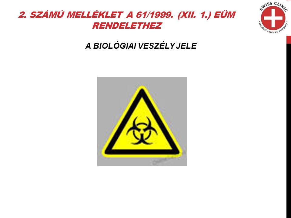 2. SZÁMÚ MELLÉKLET A 61/1999. (XII. 1.) EÜM RENDELETHEZ A BIOLÓGIAI VESZÉLY JELE