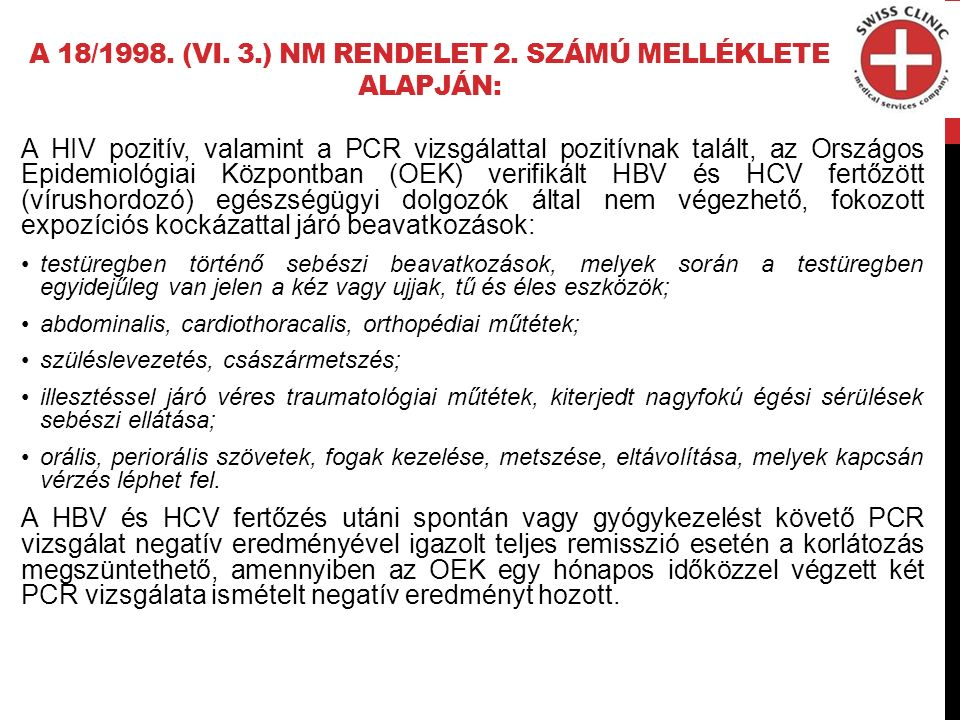 A 18/1998.(VI. 3.) NM RENDELET 2.