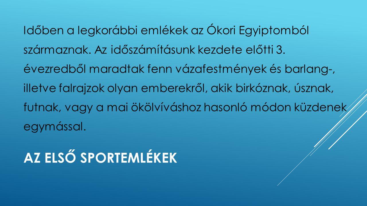 A SPORTÁGAK KIALAKULÁSA Sportegyesületeket alkottak.