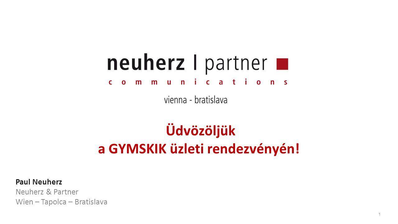 1 Üdvözöljük a GYMSKIK üzleti rendezvényén.