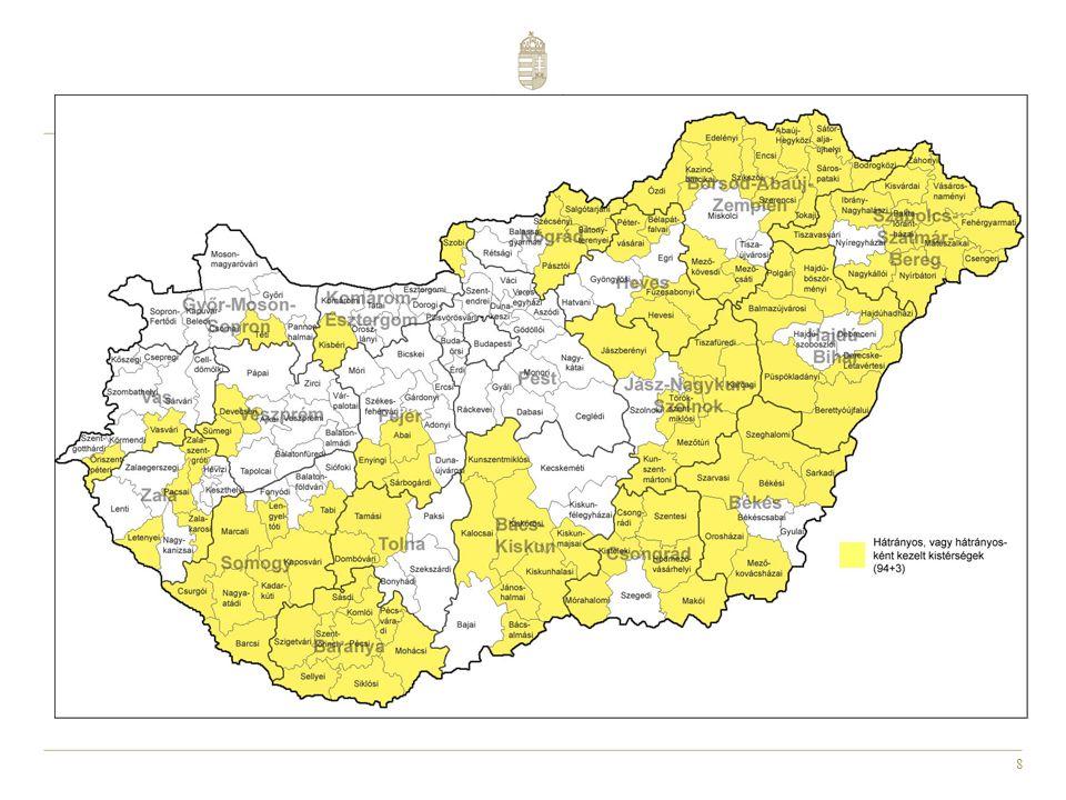 9 Régió Belügyminisztérium által finanszírozott közfoglalkoztatásba belépők lészámadatai (2011.07.01.-2011.11.30.) Nemzetgazdasági Minisztérium által finanszírozott közfoglalkoztatásba belépők lészámadatai (2011.01.01.-2011.11.30.) Összesen Közfoglalkoztatottak létszáma (fő) Közép-Magyarország55313 94114 494 Közép-Dunántúl26518 14718 412 Nyugat-Dunántúl20312 06412 267 Dél-Dunántúl2 48335 96038 443 Észak-Magyarország4 17561 89266 067 Észak-Alföld9 45080 03189 481 Dél-Alföld3 10538 84141 946 Összesen20 234260 876281 110 A közfoglalkoztatottak létszáma 2011.