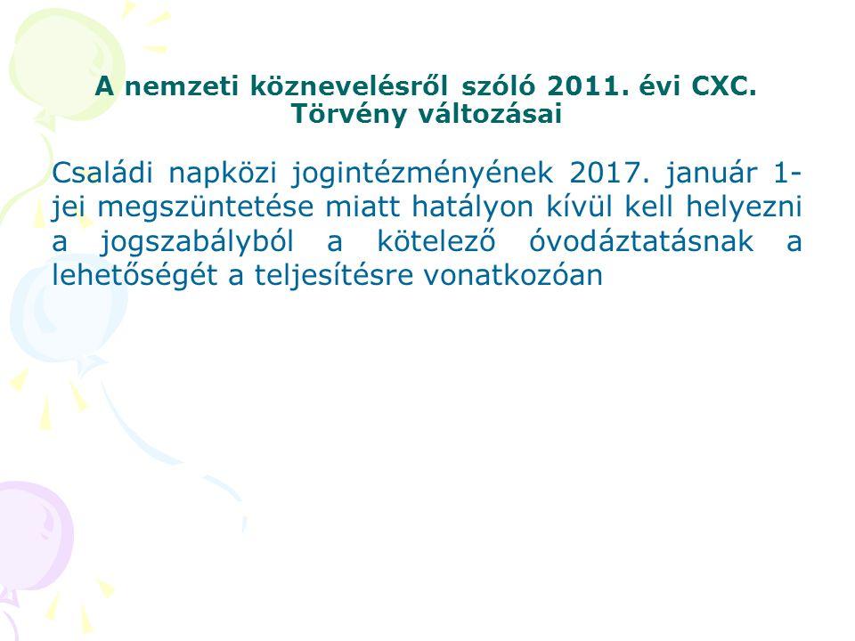 A nemzeti köznevelésről szóló 2011. évi CXC.