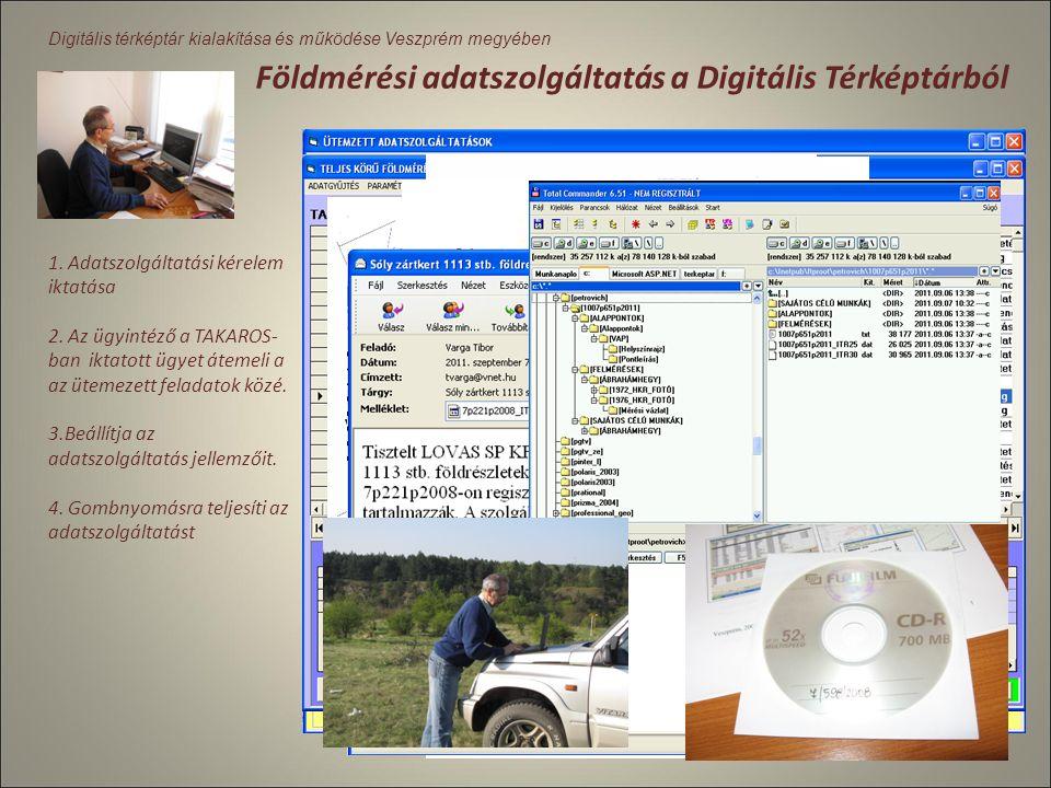 Digitális térképtár kialakítása és működése Veszprém A digitális térképtár használata A digitális térképtár a hivatalon belüli többi minden szakterüle