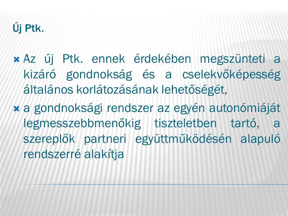 Új Ptk.Gondnokoltak száma 2003.2005.2008.