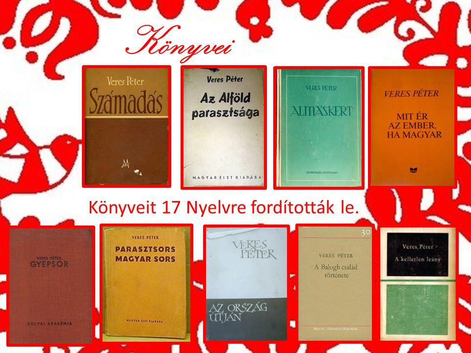 Könyvei Könyveit 17 Nyelvre fordították le.