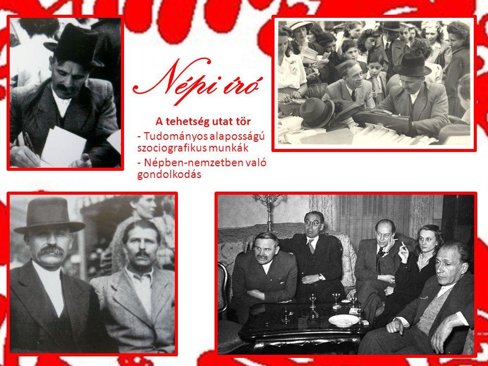 Népi író A tehetség utat tör - Tudományos alaposságú szociografikus munkák - Népben-nemzetben való gondolkodás