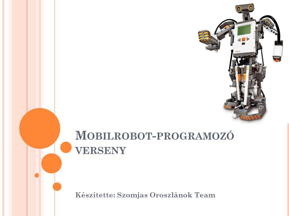 M OBILROBOT - PROGRAMOZÓ VERSENY Készítette: Szomjas Oroszlánok Team
