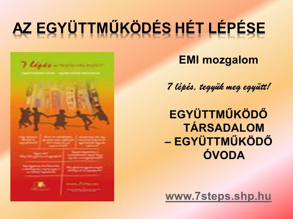 EMI mozgalom 7 lépés, tegyük meg együtt.