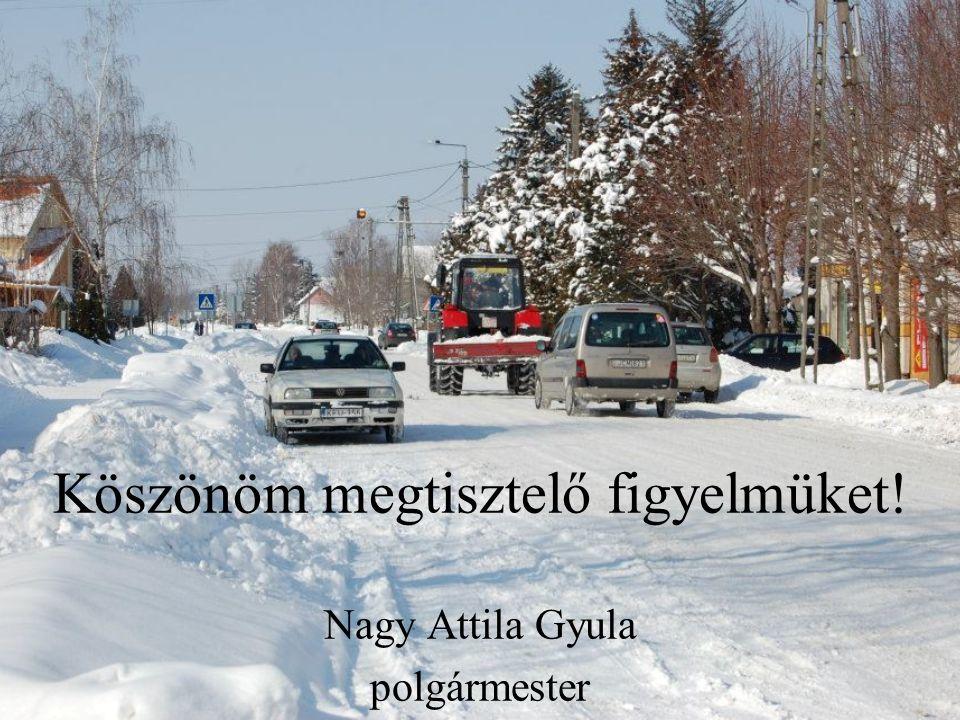 Köszönöm megtisztelő figyelmüket! Nagy Attila Gyula polgármester