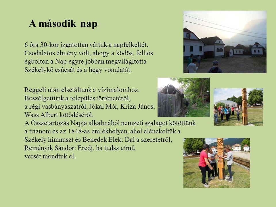 A délutánt Segesváron töltöttük.