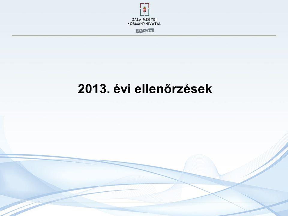2013. évi ellenőrzések