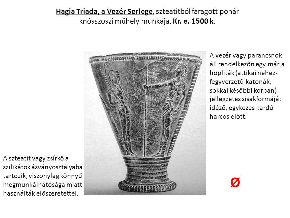 Krétai mesterek: Taurocatapsia Stukkófestmény a Kr.