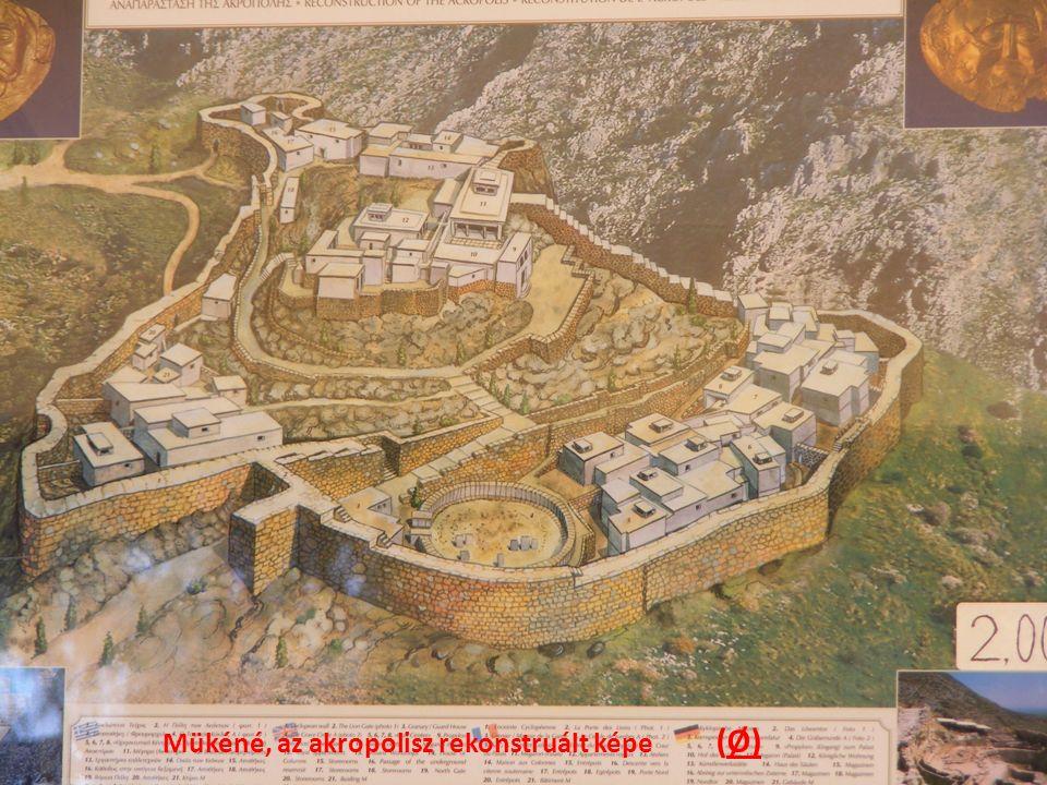 Mükéné, az akropolisz rekonstruált képe (Ø)