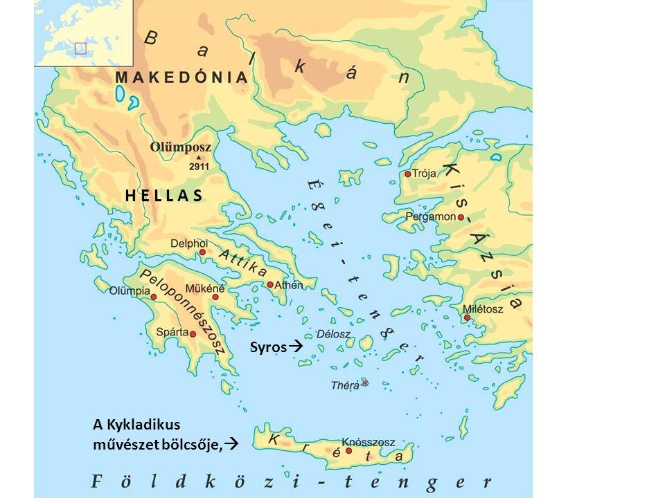 Az antikvitás görög műveltségének kialakulásához a legfőbb tudnivalók: A történeti Hellász területén már a Kr.