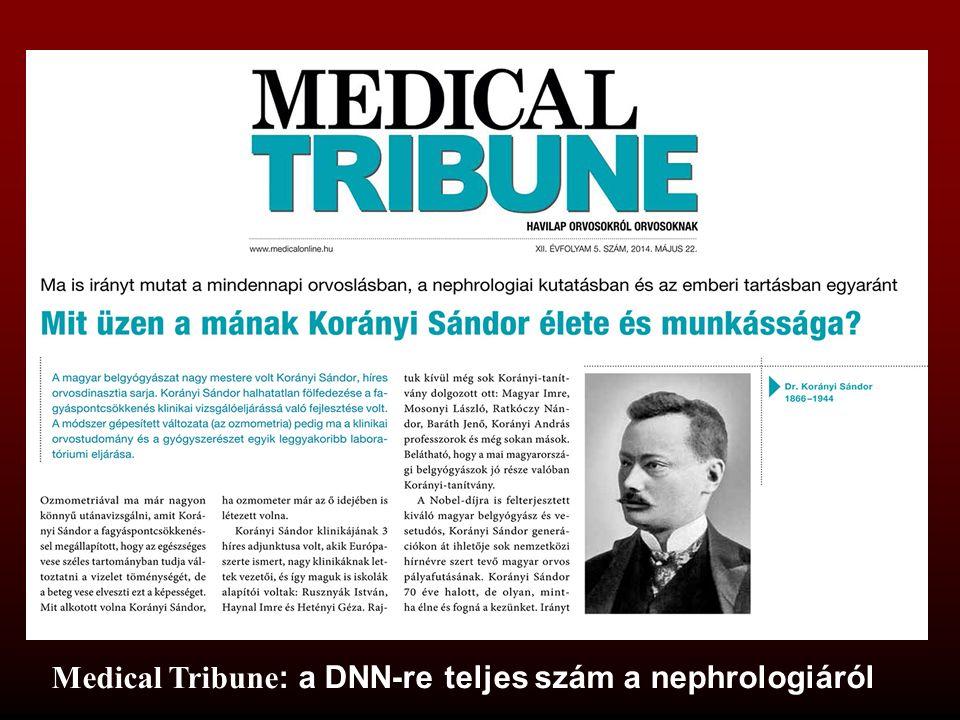 Medical Tribune : a DNN-re teljes szám a nephrologiáról
