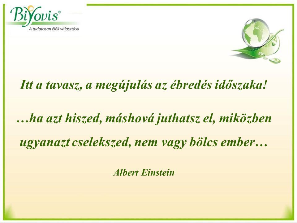 Itt a tavasz, a megújulás az ébredés időszaka! …ha azt hiszed, máshová juthatsz el, miközben ugyanazt cselekszed, nem vagy bölcs ember… Albert Einstei