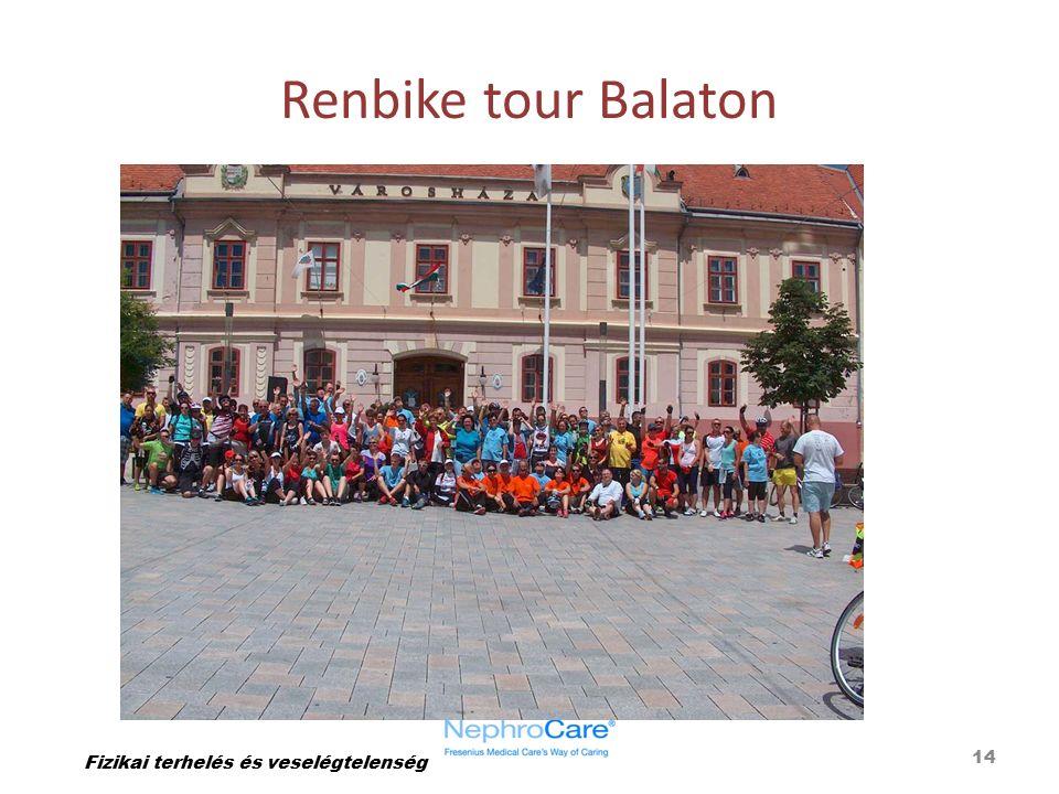 Renbike tour Balaton 14 Fizikai terhelés és veselégtelenség