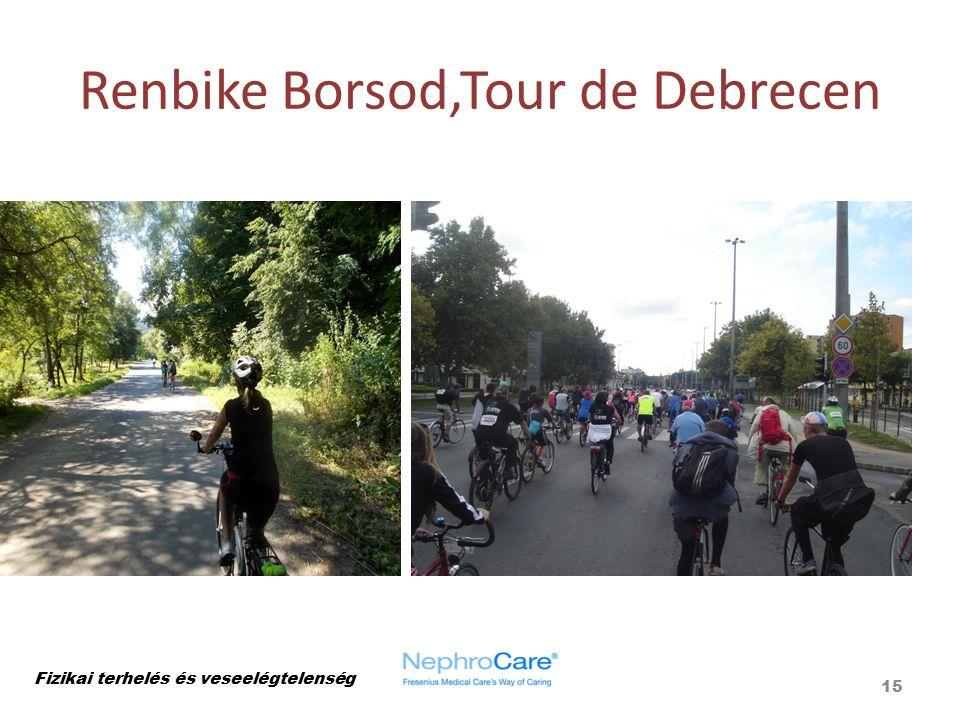 Renbike Borsod,Tour de Debrecen Fizikai terhelés és veseelégtelenség 15