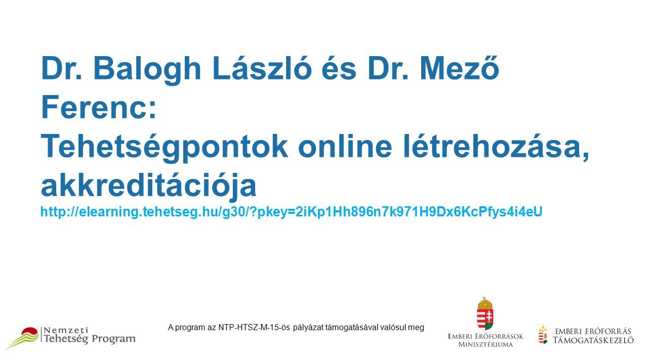 Dr. Balogh László és Dr.