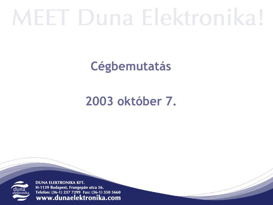 Cégbemutatás 2003 október 7.