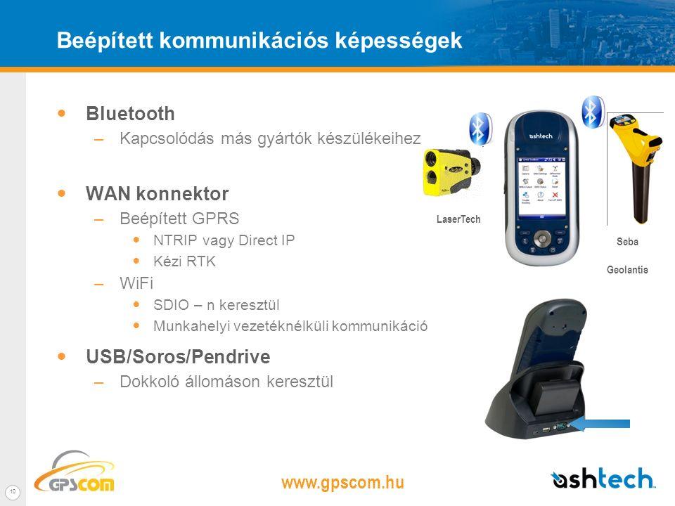 www.gpscom.hu 9 Terepre termett – Hatékony hardver A MobileMapper 100 teljesen szabadon programozható mivel Windows Mobile 6.5 operációs rendszerrel r