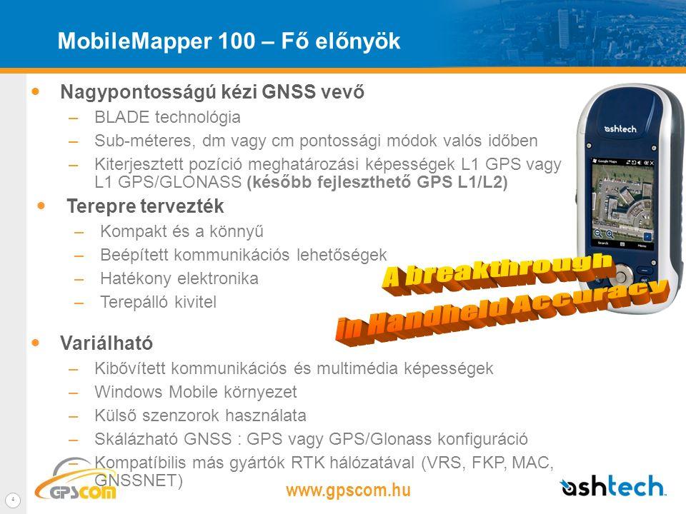 www.gpscom.hu 3 ÚJ MobileMapper 100