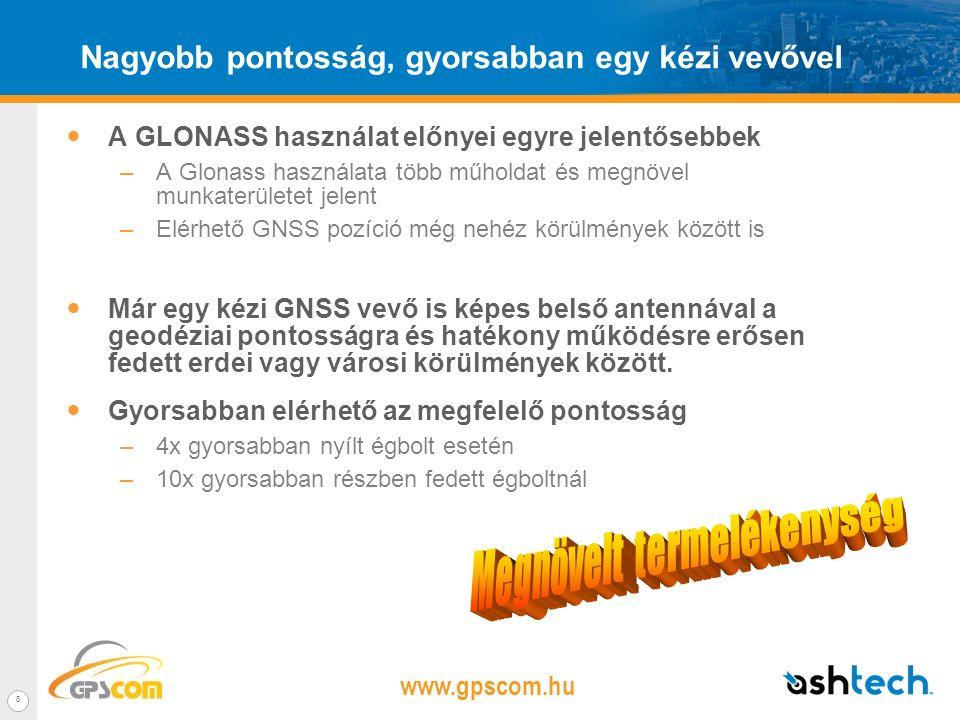 www.gpscom.hu 7 MobileMapper 100 – A legpontosabb kézi GNSS vevő A MobileMapper 100 feszegeti a pontosság határait: –RTK kompatibilis –Garantált sub-m