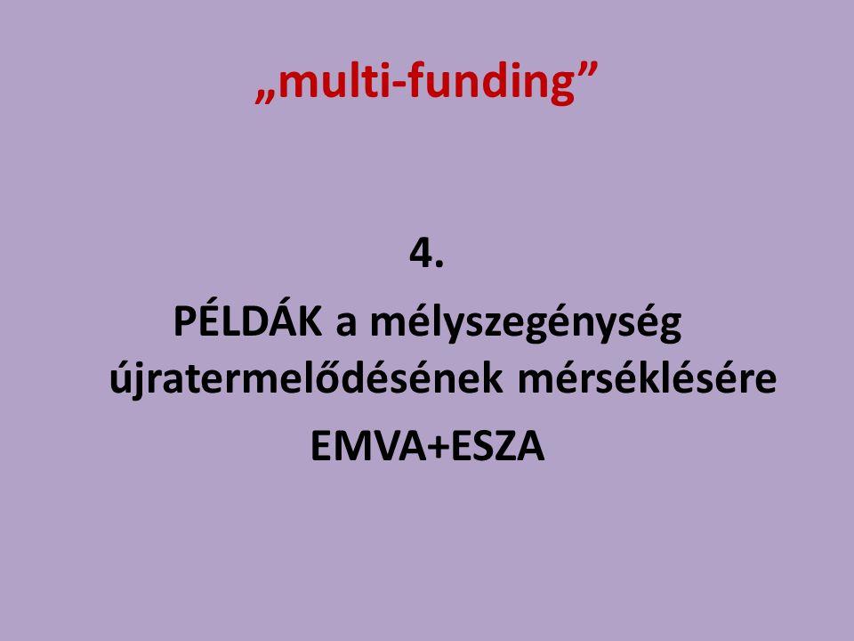 """""""multi-funding"""" 4. PÉLDÁK a mélyszegénység újratermelődésének mérséklésére EMVA+ESZA"""