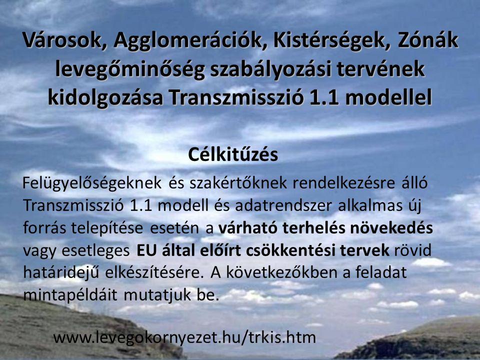 Megvalósíthatóság A városok illetve régiók alap légszennyezettségének meghatározása a KVVM OLM hálózat, ill.