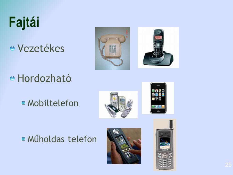Fajtái Vezetékes Hordozható Mobiltelefon Műholdas telefon 25
