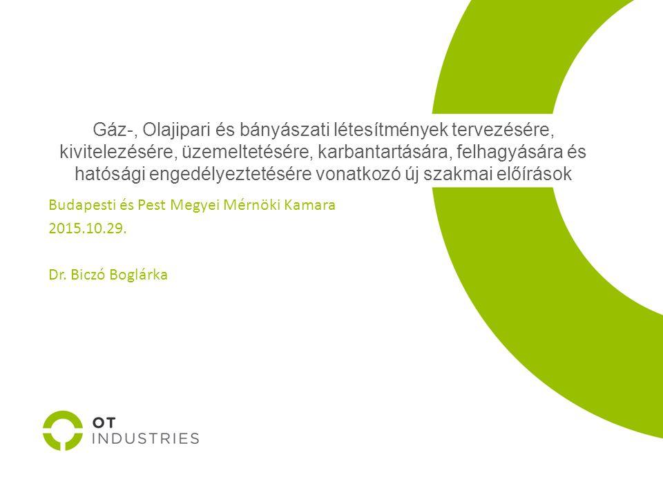 Köszönöm megtisztelő figyelmüket! Dr. Biczó Boglárka biczob@otindustries.hu 70/331/2511