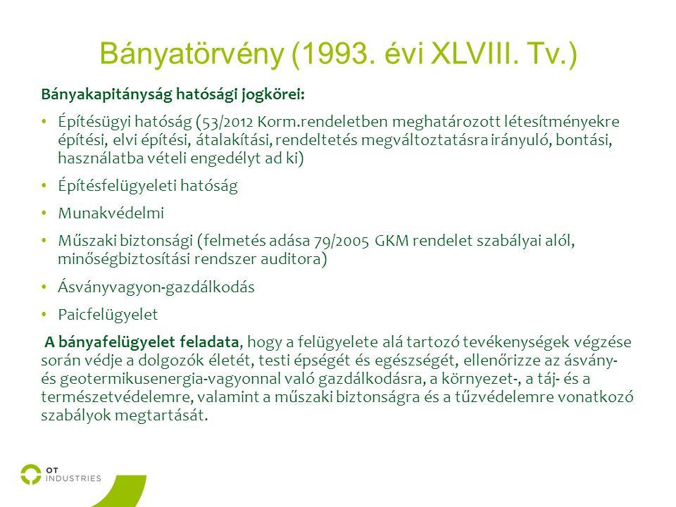 Bányatörvény (1993. évi XLVIII.