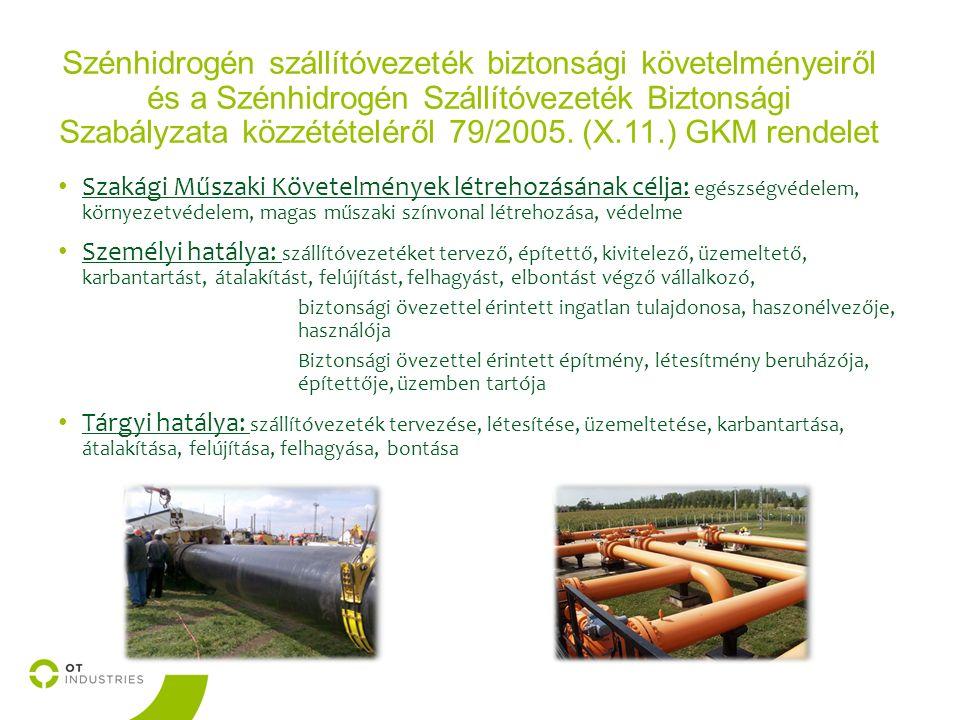 Szénhidrogén szállítóvezeték biztonsági követelményeiről és a Szénhidrogén Szállítóvezeték Biztonsági Szabályzata közzétételéről 79/2005.