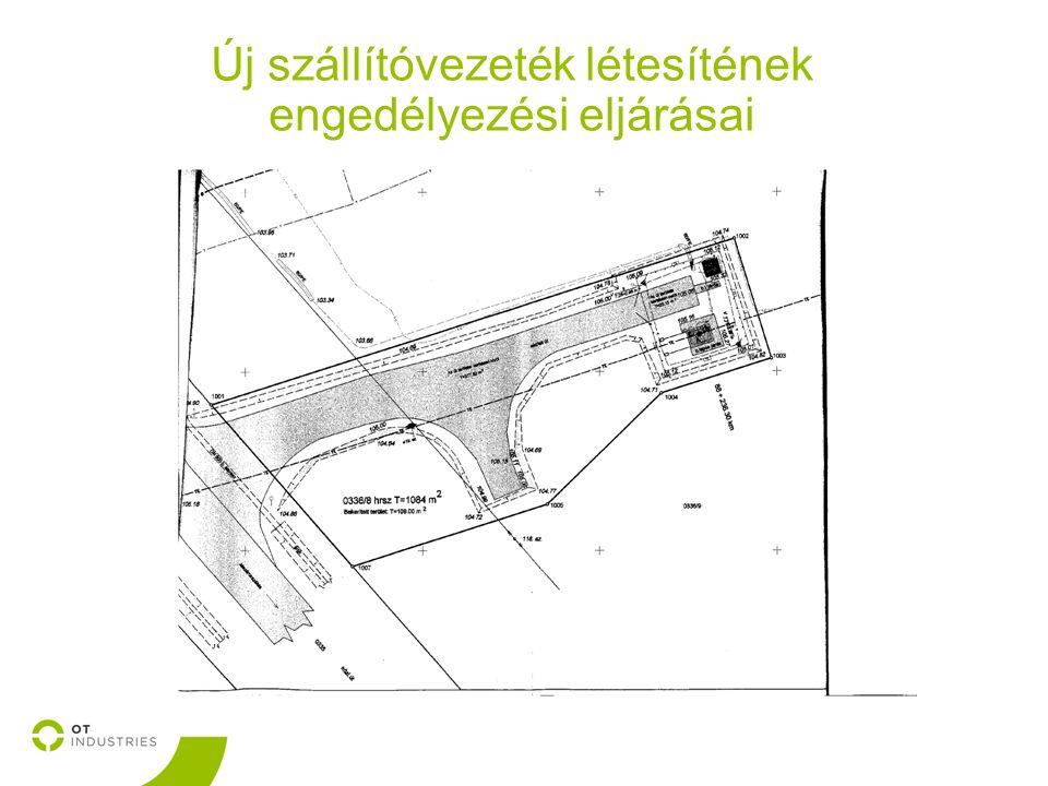 Új szállítóvezeték létesítének engedélyezési eljárásai