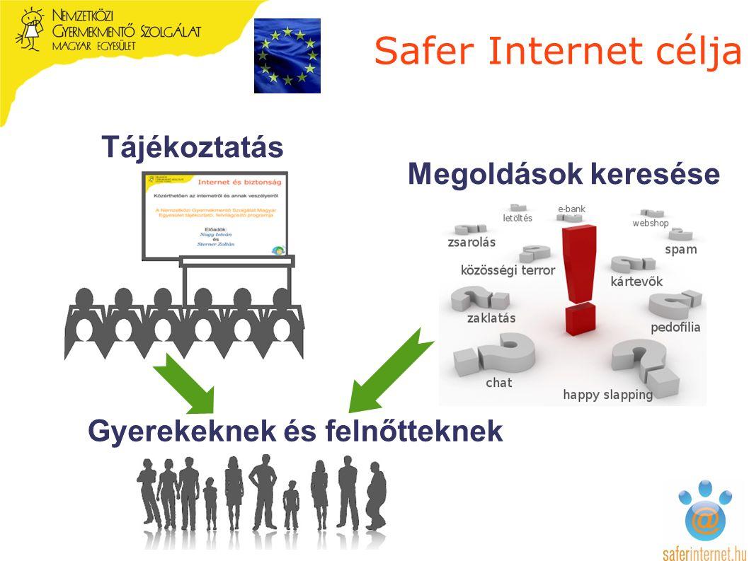 Safer Internet célja Tájékoztatás Megoldások keresése Gyerekeknek és felnőtteknek