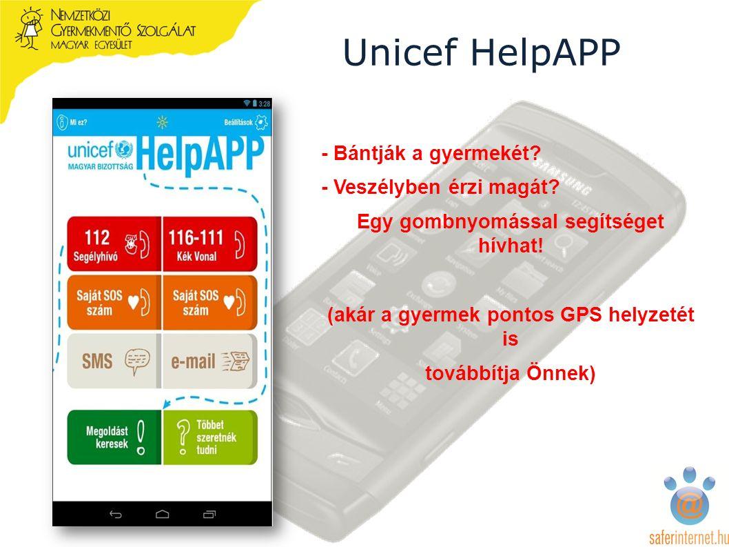 Unicef HelpAPP - Bántják a gyermekét. - Veszélyben érzi magát.