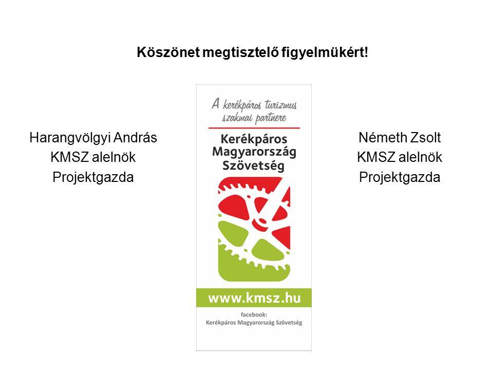 Harangvölgyi András KMSZ alelnök Projektgazda Németh Zsolt KMSZ alelnök Projektgazda Köszönet megtisztelő figyelmükért!