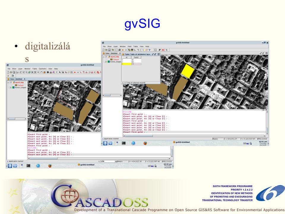 gvSIG digitalizálá s