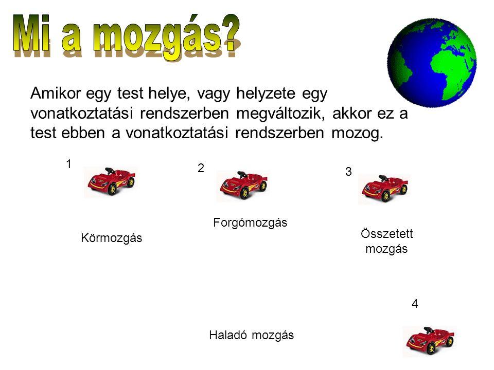 Válasz: A sebesség vektormennyiség.