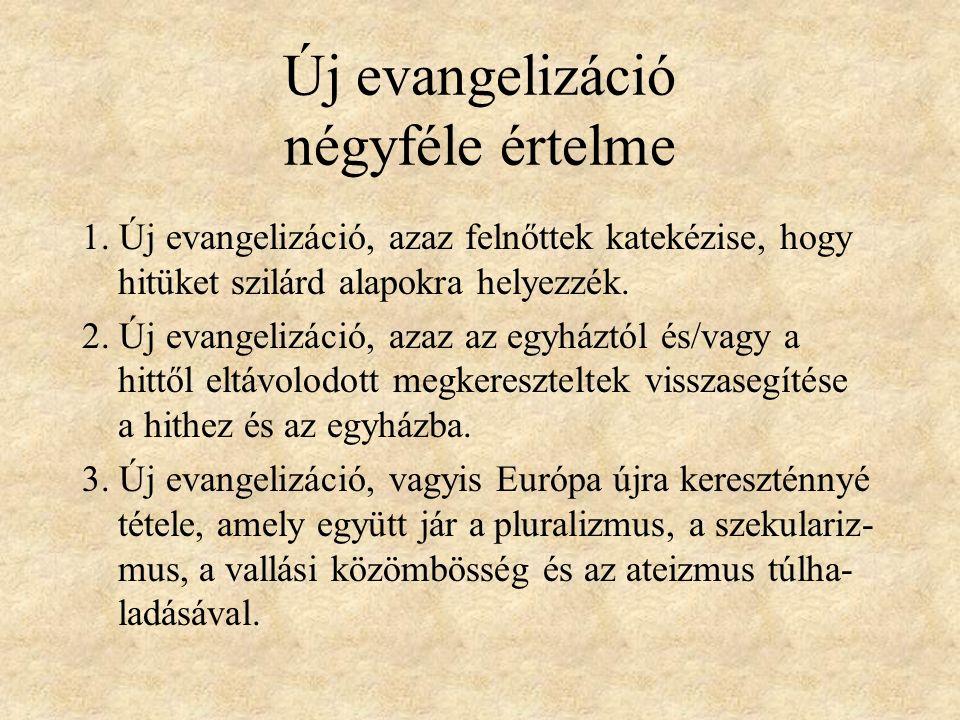 Új evangelizáció négyféle értelme 1.