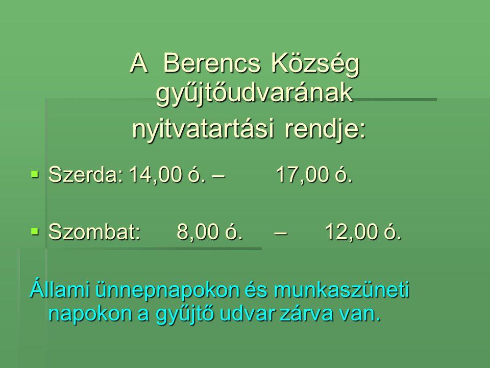 Zberný dvor obce Branč prevádzková doba : Streda 14.00 - 17.00 hod.