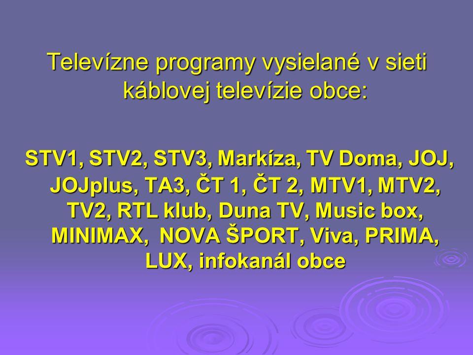 Informácie káblovej televízie Obec Branč oznamuje účastníkom káblovej televízie, že môžu naďalej prijímať všetky televízne programy rovnakým spôsobom ako doteraz, bez potreby zabezpečenia digitálneho prijímača a to aj po odpojení analógového vysielania.
